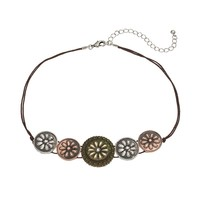 Mudd Flower Necklace (Natural/Silver/Gold)