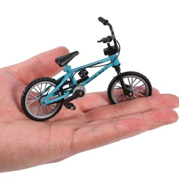 Finger board bicycle Toys With Brake Rope Blue Simulation Alloy Finger bmx Bike Children Gift Mini Size ping