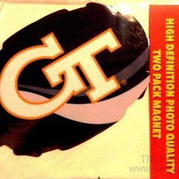 "Georgia Tech Yellow Jackets 2-pack Magnet 4""x6"" Auto Home University of"