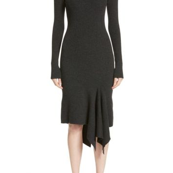 Michael Kors Merino Wool Blend Handkerchief Hem Dress | Nordstrom