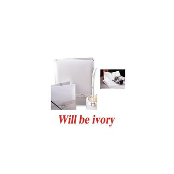 Ivory Glamour (holds 240 signatures, 3 ring binder) Memory Book