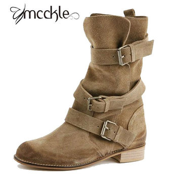 Motorcycle Bucked Ankle Boot (More Colors)