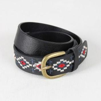 Aztec Embroidered Belt