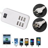 ELEGIANT 5V 6A 30W 6 Ports USB Travel Home Wall Charger Power Adapter for Mobile Tablet