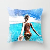 Follow Me Throw Pillow by d77thedigartist