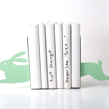 Bookends - Hare on the run mint - laser cut for precision the metal bookends will hold your books