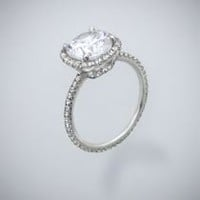 Richard Landi 1969 Pave Diamond Ring in Gold or Platinum | Landsberg Jewelers
