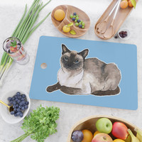 Siamese cat Cutting Board by savousepate