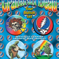 Grateful Dead Four Button Pin Set Skulls Turtles