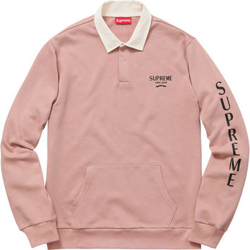 Supreme: Rugby Sweatshirt - Dusty Pink