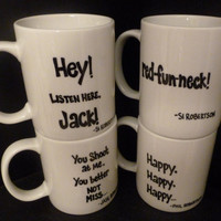 DUCK DYNASTY Inspired MUGS, 4 Styles, Your Choice of Quotes