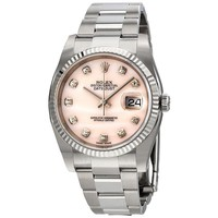 Rolex Datejust Pink Mother of Pearl Diamond Ladies Watch 116234PMDO