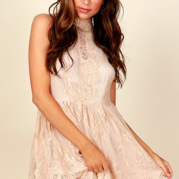 Laced On You Dress Blush