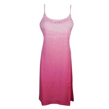 Mogul Womens Dress Pink Beautiful Cut Out Neck Design Comfy Sundress - Walmart.com