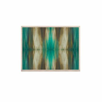 """Ebi Emporium """"Butterfly Tribal 4"""" Teal Tan Painting KESS Naturals Canvas (Frame not Included)"""