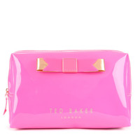Large bow cosmetic case - Bright Pink | Gifts for Her | Ted Baker