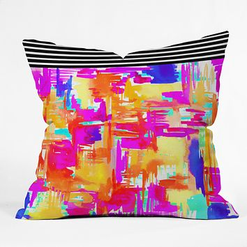 Holly Sharpe Colorful Chaos 1 Throw Pillow
