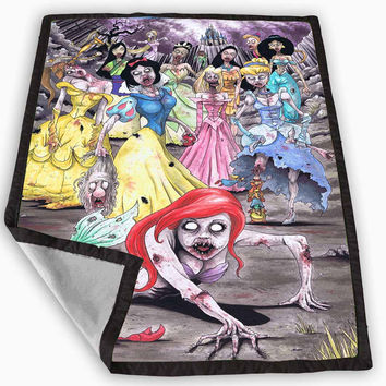Disney Princess Zombie Blanket for Kids Blanket, Fleece Blanket Cute and Awesome Blanket for your bedding, Blanket fleece *