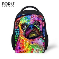 Colorsplash Pug Backpacks - Four Styles
