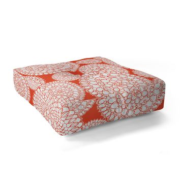 Heather Dutton Delightful Doilies Saffron Floor Pillow Square