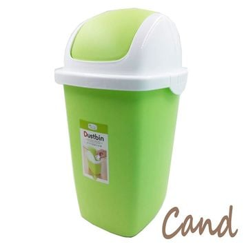 Cand Trash Can with Swing Lid - 2 Gallon(green)