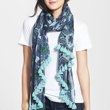 Women's Tory Burch Isola Print Scarf - Red