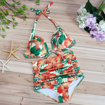 Sexy Summer Swimsuit New Arrival Hot Beach Swimwear Print High Waist Bikini [9703278538]