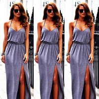 women dress Sexy Girl Boho Long Maxi Party Dress Beach Dresses