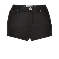 Parisian Black High Waisted Hotpants