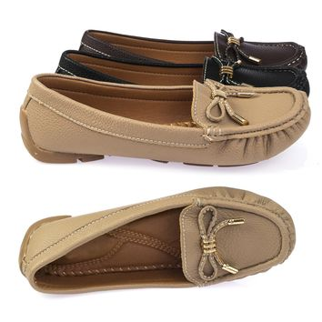 Jimmi05 Moccasins Comfortable Padded Flat Slip On Loafer w Metal Bow Ornament