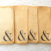 Coffee Stained And Stamped Note Cards. Stationery.  NoteCard. Junk Journal Paper. Junk Journals. Journal Spot. Ampersand Stamp. Mixed Media.
