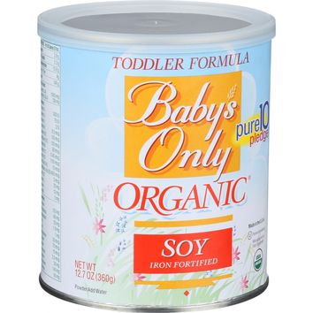 Baby's Only Organic Toddler Formula - Soy - 12.7 oz (Pack of 3)