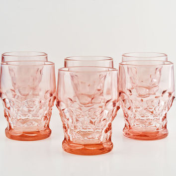 Viking Georgian Pink 9oz Flat Tumbler Set of 6