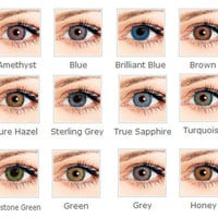 Colorful 6 colors in stock eye contact Lenses Cosmetic contact lenses 14.5mm