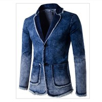 Cool 2018 Brand Denim Jacket Men Single Breasted Turn down Collar Jeans Coat Male jaqueta masculina Man Jacket veste homme coats maleAT_93_12