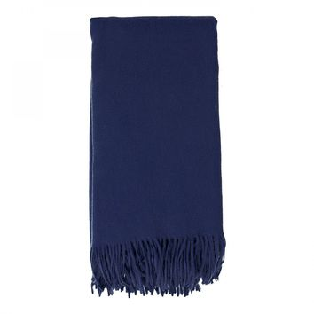 Cashmere Throw in Navy by Alashan