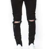 ESSENTIAL DENIM BLACK DISTRESSED | Wings Of Liberty