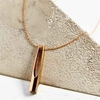 Metalepsis Projects Y Solid Bronze Pendant Necklace