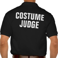Costume Judge Funny Halloween Polo T-shirt