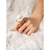 3D Cube Square Hollow Ring 1pc