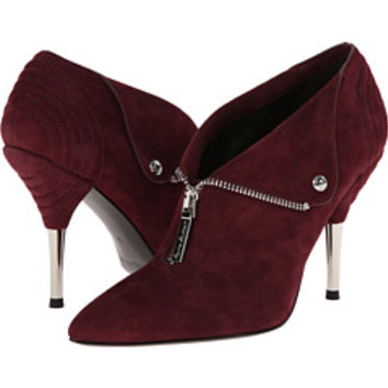Pierre Balmain Suede Pointed - Toe Ankle Bootie With Metal Heel