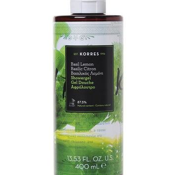 Korres Basil Lemon Shower Gel, 14 oz./ 400 mL