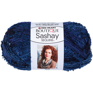 Red Heart Boutique Sashay Sequins Yarn-Twilight