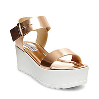 Black Platform Wedge Sandals | Steve Madden SURFSIDE