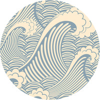 Waves of Chic Circle Wall Decal