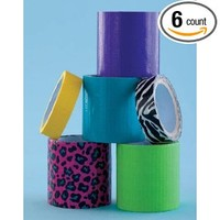 Cool Colors Duct Tape Gift Set for Crafts (6 rolls)