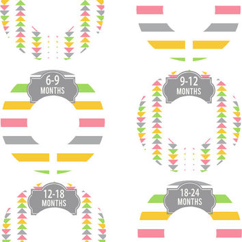 Custom Baby Closet Dividers Pink Green and Grey Arrows Baby Girl Closet Dividers Baby Shower Gift Baby Clothes Organizers Baby