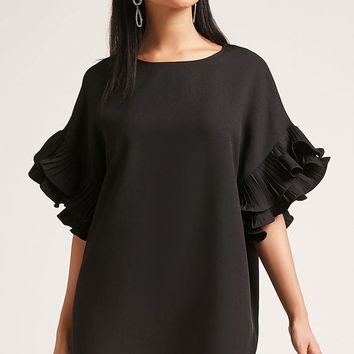 Tiered Sleeve Shift Dress