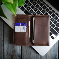 Mens Wallet/Monogram Wallet /iPhone 4S.5S.5C Clutch Wallet /Custom Wallet/Handmade  Wallet /Slim Bifold Wallet/Perfect  Gift