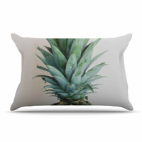 "Chelsea Victoria "" The Pineapple"" Green Gold Pillow Case"